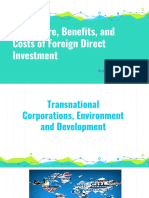 The Nature, Benefits and Cost of Foreign Direct Investment