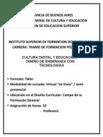 Diseño de Catedra Tecnologia
