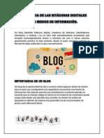Importancia de Las Bitácoras Digitales Como Medios de Información