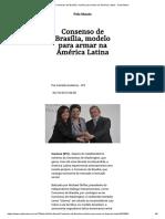 Consenso de Brasília, modelo para armar na América Latina - Carta Maior.pdf