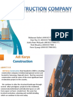 Presentation of construction