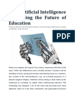 How Artificial Intelligence Is Shaping the Future of Education.docx