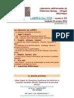 LAMPEA-Doc 2010 – numéro 34 / Vendredi 29 octobre 2010