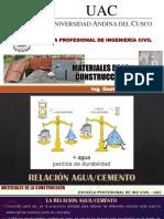 II - 6 Clase - Relacion Agua Cemento