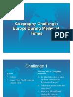 Medieval Geo Challenge