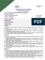 Programa de Derecho del Trabajo - UCASAL - 2019