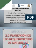 Mrp, Estructura, Mrp Servicios