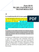 Parte III El Papel Del Pastor en La Transformación