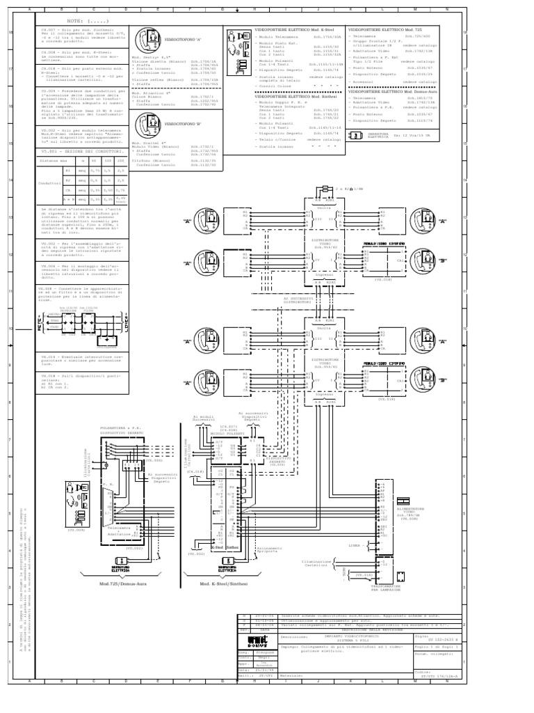 Schema Elettrico Urmet : Sostituzione urmet con con centralino portiere