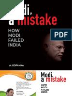 Modi, a mistake by A. Gopanna