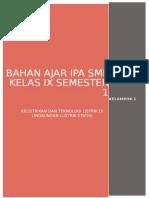 BAHAN AJAR IPA LISTRIK STATIS (KELOMPOK 1).docx