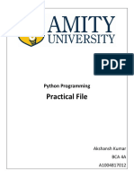 Python Practical FIle