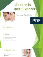 Skin Care in Summer & Winter Pranali