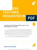 Business Features Requested in Crm - Solastis