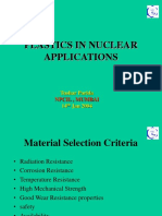 Plastics in Nuclear Applications