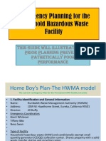 Whitner, Contingency Planning for the Household Hazardous Waste Facility