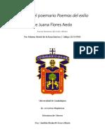 """Análisis del Poemario de Juana """"Sebastiana"""" Flores"""