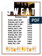 Sweat Performance Schedule