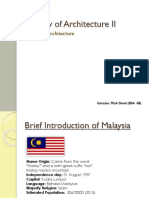 History of Architecture II - Malaysia