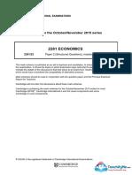 2281 November 2015 Paper 22 Mark Scheme