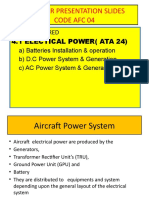 Battery Installation and Operation