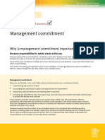 Advice Sheet 1 Management Commitment
