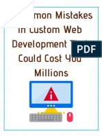 Common Mistakes in Custom Web Development