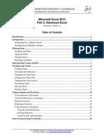 0624 Microsoft Excel 2013 Part 3 Advanced (1)