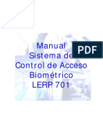 Manual Control Acceso Biometrico Lerp 701 E