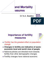 3. Fertility and Mortality Measures