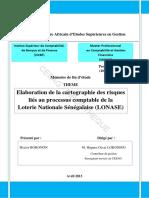 Mémoire de fin d étude THEME. Elaboration de la cartographie des risques liés au processus comptable de la Loterie Nationale Sénégalaise (LONASE).pdf