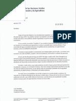 Carta del Director General de la FAO, José Graziano da Silva, al Papa Francisco