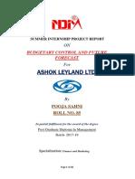 'Summer Project on Budgeting Control of Ashok Leyland.docx