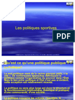 POLITIQUES SPORTIVES