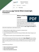 SAFe Methodology Tutorial_ What is Scaled Agile Framework