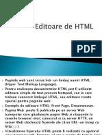 Editoare de HTML Tipuri de Site Uri