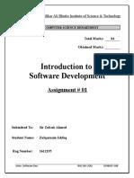 Intro to SoftDev Assignment 1