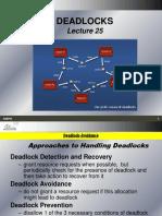 Lecture 25 Deadlocks