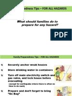 Disaster Preparedness for Family (Philippines)