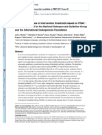 A Systemic Review of Intervention Thresholds Based on FRAX a Report Prepared for the National Osteoporosis Guideline Group and the International Osteoporosis Foundation