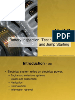 Unit 2 - Battery Inspection, Testing, Service, And Jump Starting