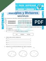 Ficha Múltiplos y Divisores Para Cuarto de Primaria