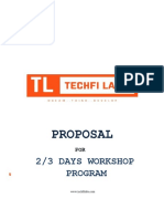TechFi Labs Workshop Proposal