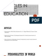 Articles in music ed