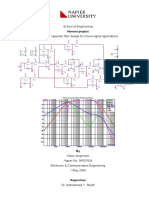 Honours Project - Switched Capacitor Filter Design for Mixed Signal Applications