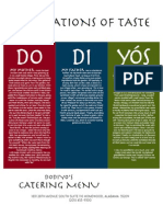 Dodiyo's Catering Menu