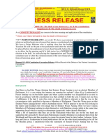 20190403-PRESS RELEASE Mr G. H. Schorel-Hlavka O.W.B. ISSUE - Re the Theft of Our Democracy, Etc, & the Constitution-Supplement 41-The Death of Democracy-etc