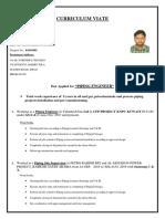 Vijayendra Cv for Piping Engineer