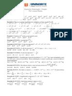 Lista de Exercicio Matematica 2 (1)