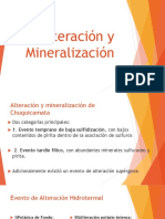 Alteraciones y mineralización